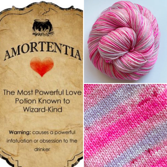 AMORTENTIA Sock Yarn | Self-Striping Yarn | Fingering Weight Yarn | Dyed to Order