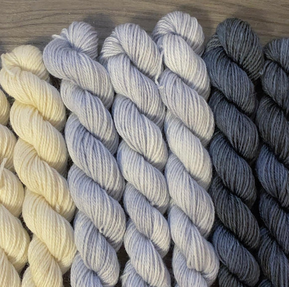 Semi-Solid 25g Mini Skein | Fingering Weight Yarn | Dyed to Order