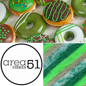 LUCKY LEPRECHAUN SPECKLE DONUT | Sock Yarn | Self-Striping Yarn | Fingering Weight Yarn | Dyed to Order