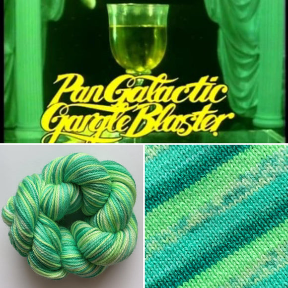 PANGALACTIC GARGLEBLASTER | Sock Yarn | Self-Striping Yarn | Fingering Weight Yarn | Dyed to Order