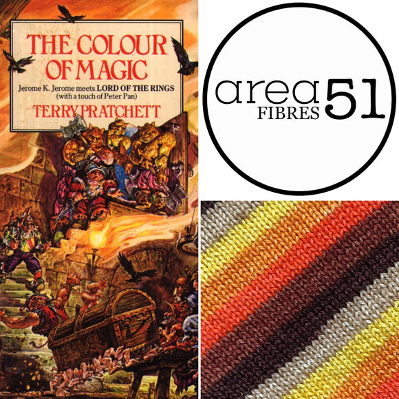 THE COLOUR OF MAGIC Sock Yarn | Self-Striping Yarn | Fingering Weight Yarn | Dyed to Order