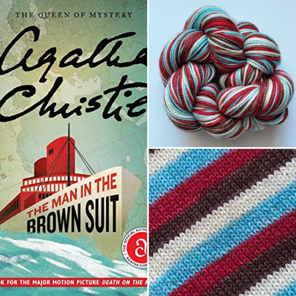 THE MAN IN THE BROWN SUIT | Sock Yarn | Self-Striping Yarn | Fingering Weight Yarn | Dyed to Order