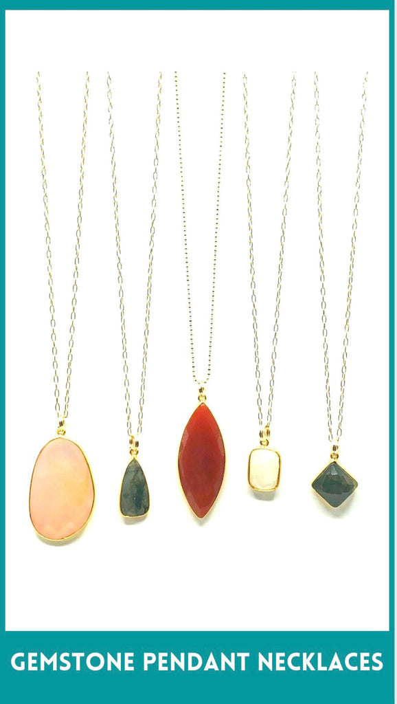 Gemstone Long and Pendant Necklaces