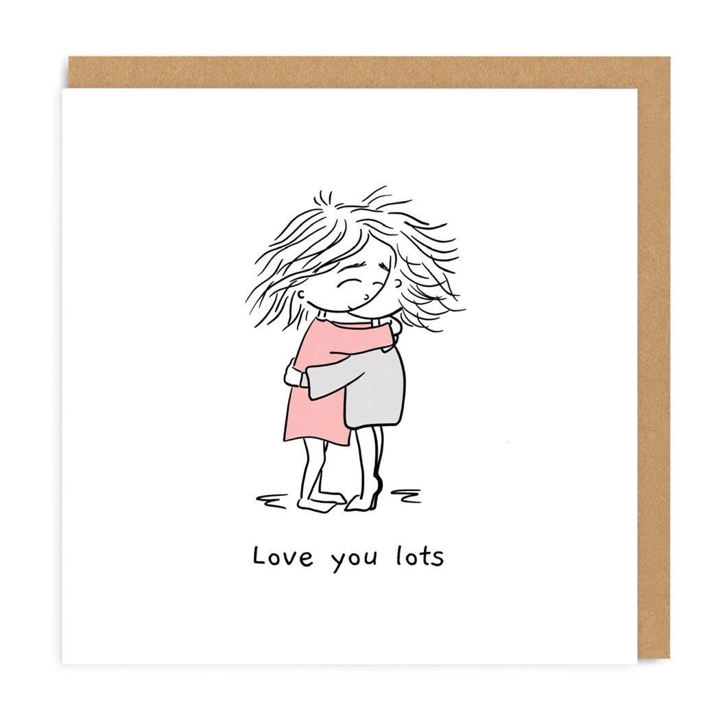 Love You Lots - Hugs Greeting Card