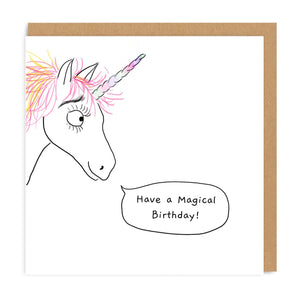 Unicorn Happy Birthday Greeting Card