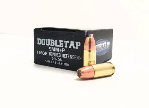 9mm+P 115gr Bonded Defense® JHP