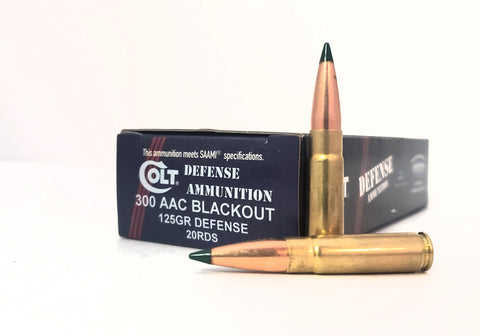 300 AAC BLACKOUT 125GR Colt Defense Ammunition 20rds