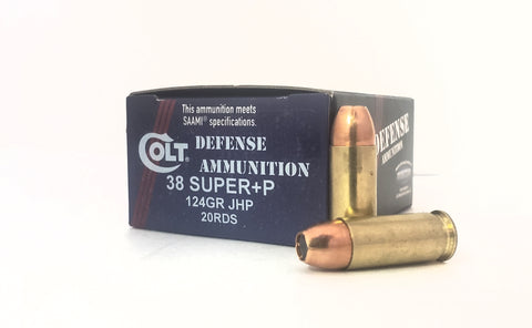 38 SUPER 124gr Colt Defense Ammunition JHP 20RDS