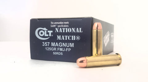 357 MAG 125gr Colt National Match® FMJ-FP 50rds