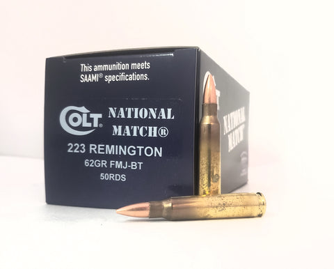 223 Rem 62gr Colt National Match®FMJ 50rds