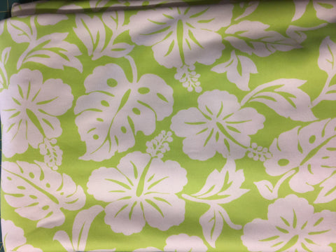 Activewear/Swimwear Knit - Lime & White Floral FM29