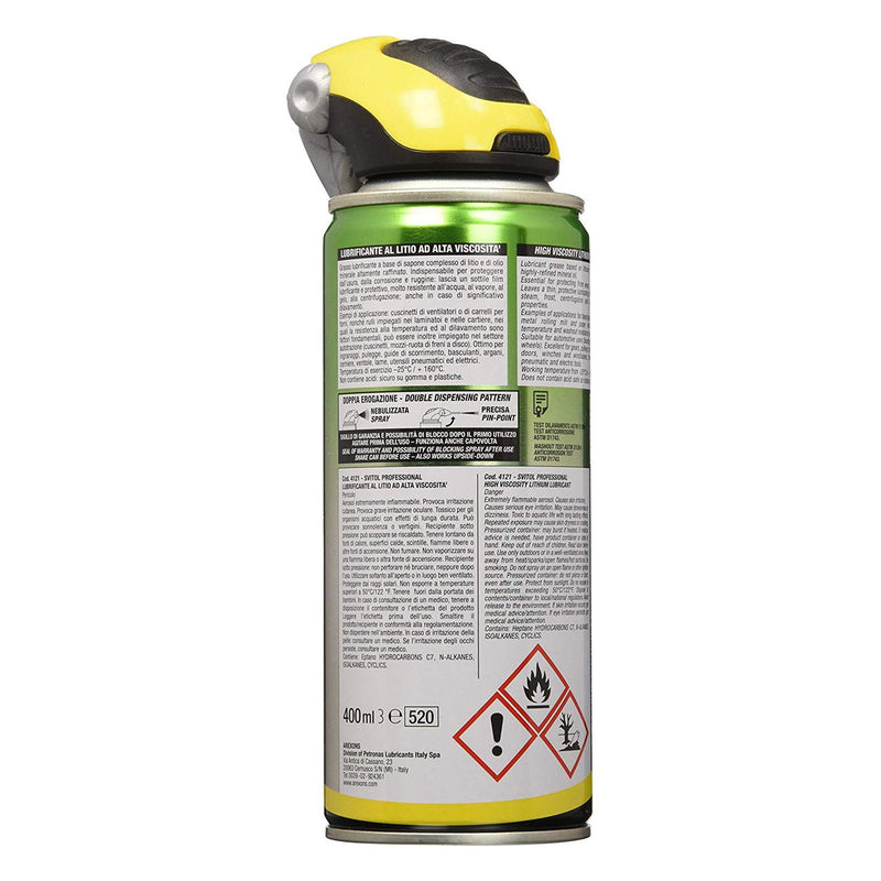 Grasso svitol professionale lubrificante litio 400 ml protezione ruggine resistente all' acqua