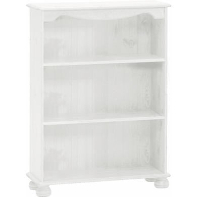 Steens Richmond White Bookcase With 2 Shelves - Wall Shelves Direct