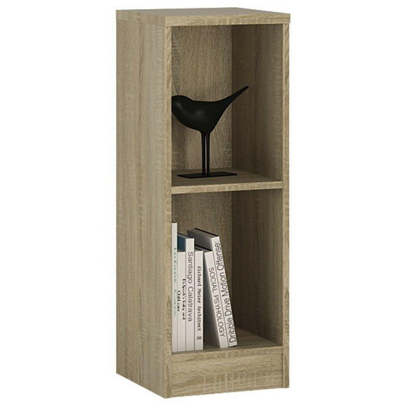 4 You Sonoma Oak Home Living Furniture Low Narrow Bookcase 1 Shelf Storage Unit - Wall Shelves Direct