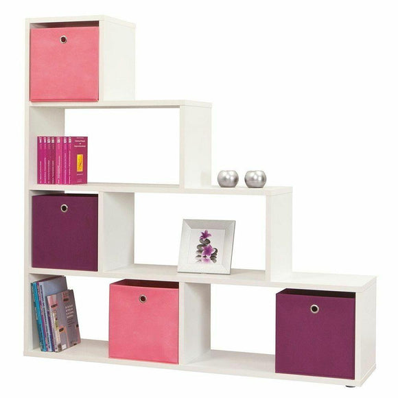 White Shelving Home Room Divider Cube Shelves Bookcase Display Furniture Storage - Wall Shelves Direct