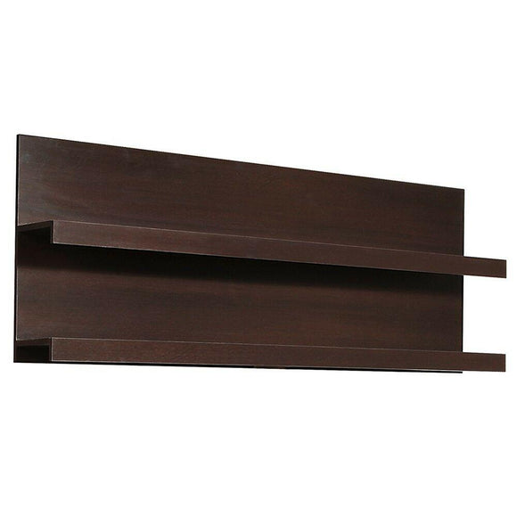 Pello 166 cm Wide Wall Shelf in Dark Mahogany / Wenge - Wall Shelves Direct