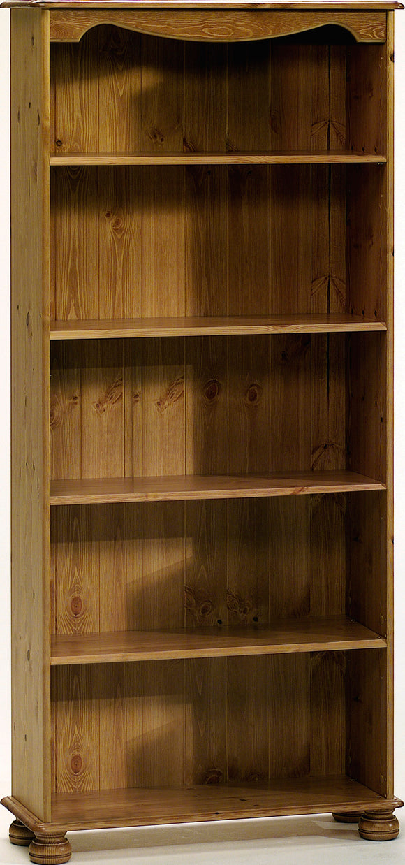 Steens Richmond Bookcase with 4 Shelves In Pine - Wall Shelves Direct