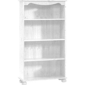Steens Richmond White Bookcase With 3 Shelves - Wall Shelves Direct