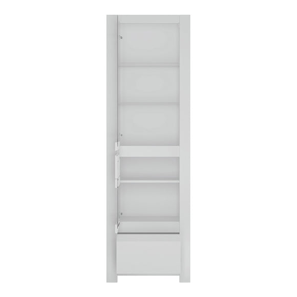 Novi Display Cabinet In Alpine White - Wall Shelves Direct