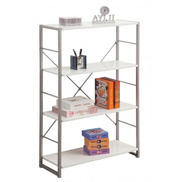 White Modern Bookcase by Alphason - Wall Shelves Direct