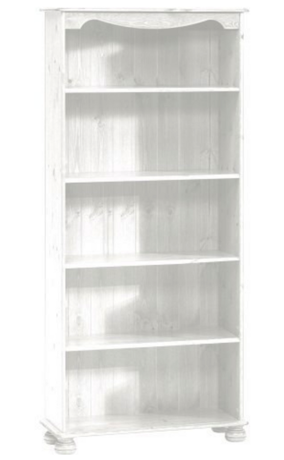 Richmond White Home Office Furniture 4 Shelf Bookcase Shelving Display Unit - Wall Shelves Direct