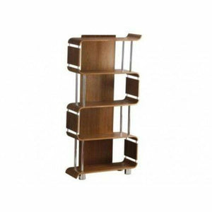 Curved Walnut Designer Bookcase Shelving Unit by Jual Furnishings BS201 - Wall Shelves Direct