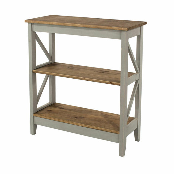 Premium Core Products Corona Grey Washed3 Tier Wide Shelving Shelf Unit - Wall Shelves Direct