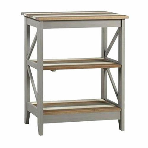 Premium Corona Pine Vintage Grey White Natural Pine 3 Tier Shelf Display Unit - Wall Shelves Direct