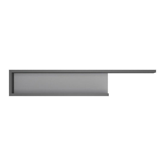 Lyon 140cm Modern Designer Wall Shelf in Platinum & Light Grey - Wall Shelves Direct