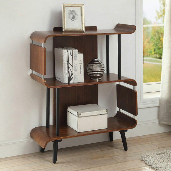 Jual Furnishings Vienna Short Bookcase Shelf Storage Display Unit - Real Walnut - Wall Shelves Direct
