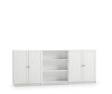 Steens Anette Wide Bookcase With 3 Shelves In White - Wall Shelves Direct