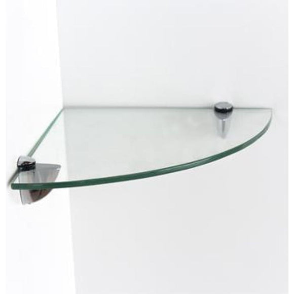 Core Products Clear Glass 250x250mm Corner Shelf Kit - Wall Shelves Direct