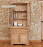 Baumhaus (CRESSMSBT) Roscoe Contemporary Oak Glazed Display TOP With Oak Sideboard - Wall Shelves Direct