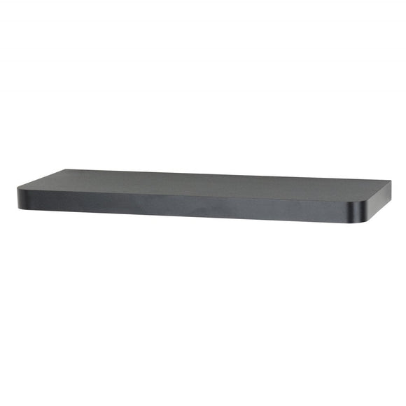 Core Products Arran Matt Black 800x195mm Floating Shelf Kit - Wall Shelves Direct