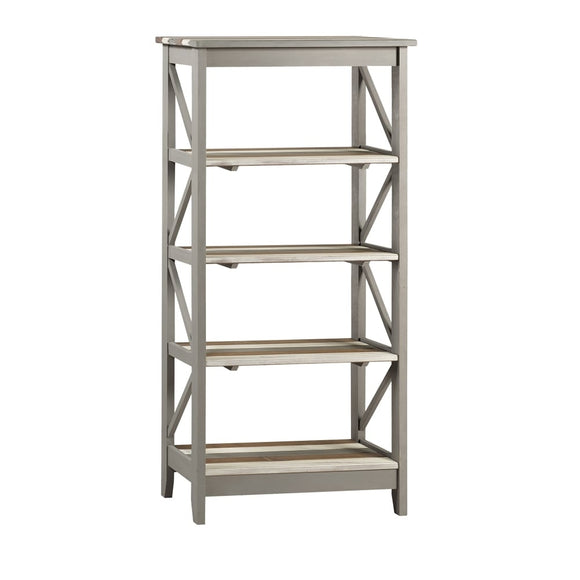 Core Products Corona Vintage Grey Wax Pine Wide 5 Tier Shelf Unit - Wall Shelves Direct