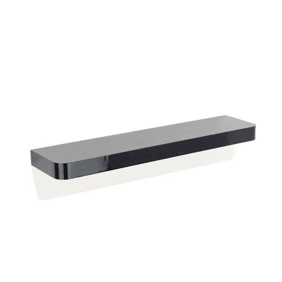 Core Products Trent Matt Black 800x145mm Narrow Floating Shelf Kit - Wall Shelves Direct