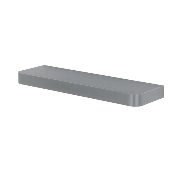 Core Products Trent Matt Grey 500x145mm Narrow Floating Shelf Kit - Wall Shelves Direct