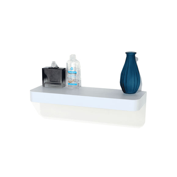 Core Products Trent Matt White 500x145mm Narrow Floating Shelf Kit - Wall Shelves Direct