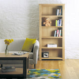 Baumhaus Aston Oak Large Open Bookcase - CVR01A - Wall Shelves Direct