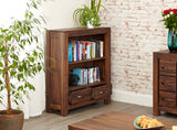 Baumhaus Mayan Walnut Low Bookcase - CWC01B - Wall Shelves Direct