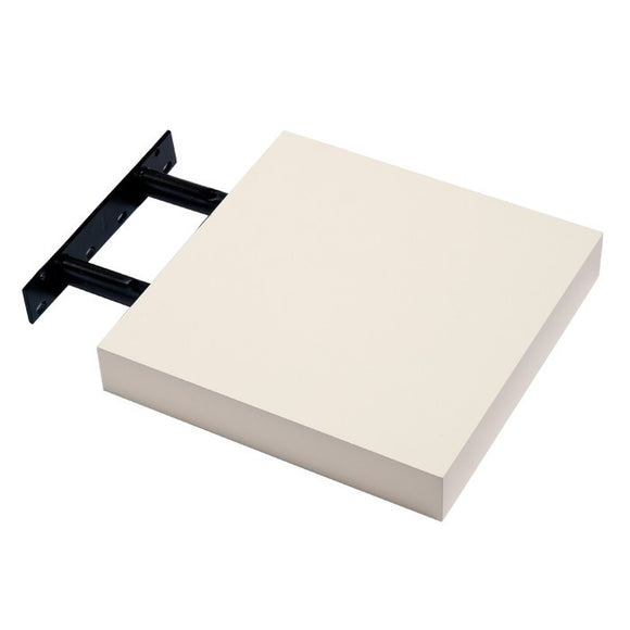 Hudson Box Shelf Kit - Gloss Cream - 24cm Wide - Wall Shelves Direct