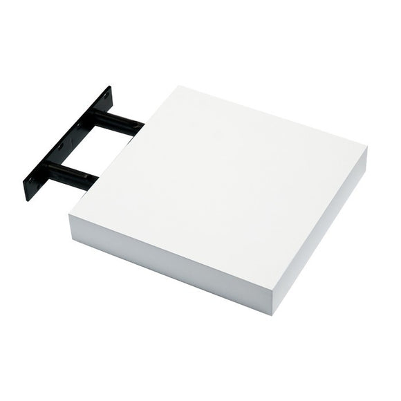 Hudson Box Shelf Kit - Gloss White - 24cm Wide - Wall Shelves Direct