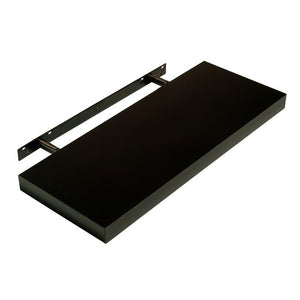 Hudson Box Shelf Kit - Gloss Black - 90cm Wide - Wall Shelves Direct