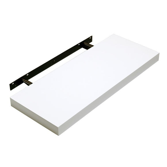 Hudson Box Shelf Kit - Gloss White - 90cm Wide - Wall Shelves Direct