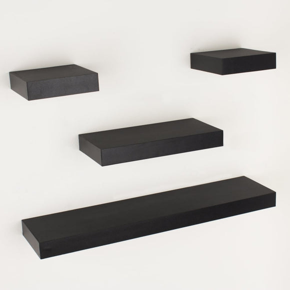 Core Products Hudson Foiled Matt Black Narrow Shelf Kit - Wall Shelves Direct