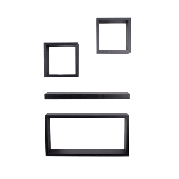 Core Products Hudson Foiled Matt Black Shelf Kit - Wall Shelves Direct