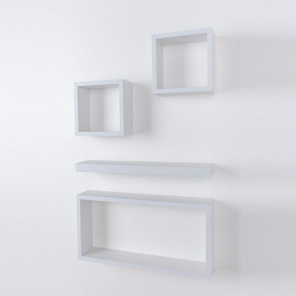 Core Products Hudson Foiled Matt White Shelf Kit - Wall Shelves Direct