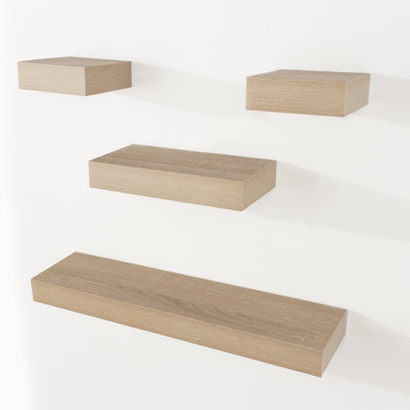Core Products Hudson Foiled Oak Narrow Shelf Kit - Wall Shelves Direct