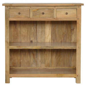 Granary Royale Low Bookcase With 3 Drawers - Wall Shelves Direct