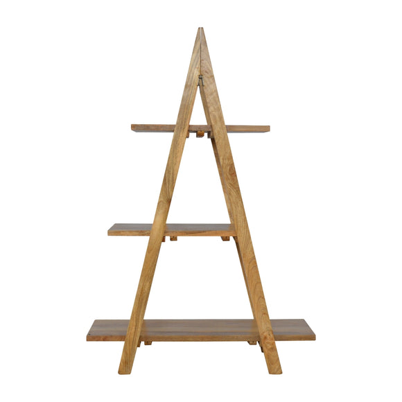 ArtHaus Collection V-Shaped Nordic Style Ladder Style Open Display Unit With 3 Shelves - Wall Shelves Direct